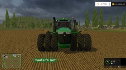 Мод трактора JOHN DEERE 9620R TRIPLES