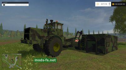 Трактор К700 со съемным контейнером для игры FS 2015