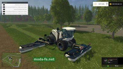 Мод комбайна для скашивания травы в игре FS 2015