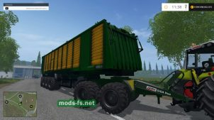 Большой прицеп-фура MBJ Chopped Semitrailers для Farming Simulator 2015