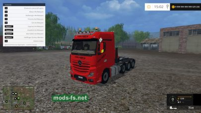 Мод тягача Mercedes Actros MP4 SLT