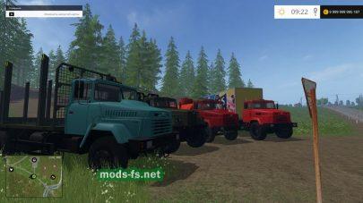 Мод грузовиков КрАЗ с прицепами