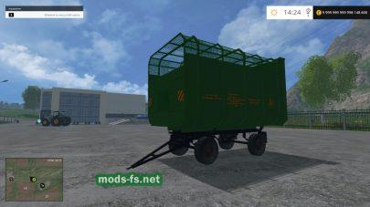 2ПТС 4.5: прицеп для перевозки соломы в FS 2015