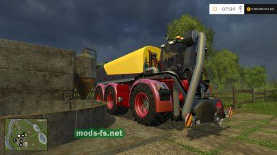 Перевозка жидкого навоза в игре Farming Simulator 2015