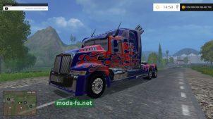"Модификация тягача ""Western Star Optimus Prime 5"""