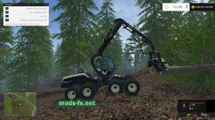 Машина для срезки деревьев в игре FS 2015