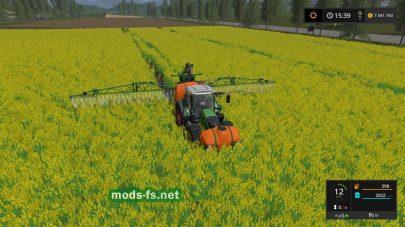 Мод следы на посевах для игры Фермер Симулятор 2017