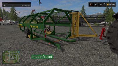 Прицеп для перевозки круглых тюков в игре Farming Simulator 2017