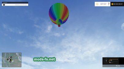 Balloon Trip: воздушный шар для игры Farming Simulator 2015