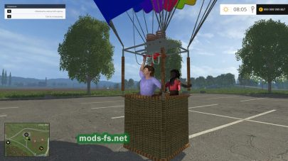 Мод воздушного шара для Фермер Симулятор 2015