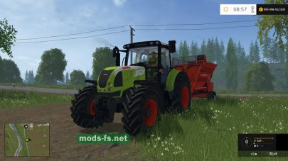 Мод трактора CLAAS ARION 620