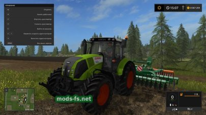 Мод трактора CLAAS AXION 820 FS17