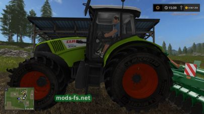 Трактор CLAAS AXION для Farming Simulator 2017