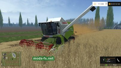 зерноуборочный комбайн Claas Tucano 320 для Farming Simulator 2015
