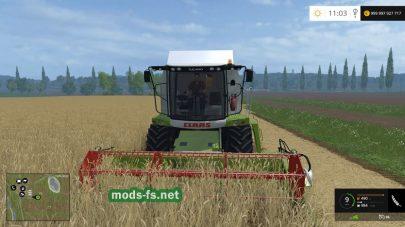 Claas Tucano 320 для уборки урожая на фермер в игре FS 2015