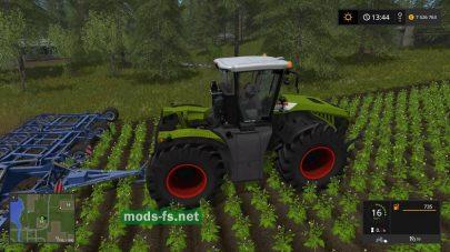 Скриншот мода трактора Claas Xerion 5000