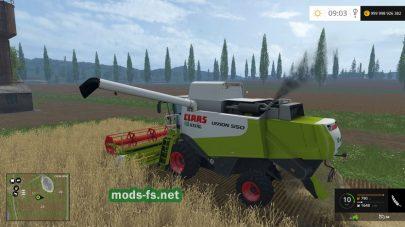Мод зерноуборочного комбайна CLAAS LEXION 550