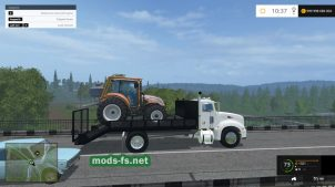 Перевозка небольшой техники в игре Farming Simulator 2015