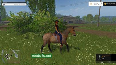 Мод лошади для Farming Simulator 2015