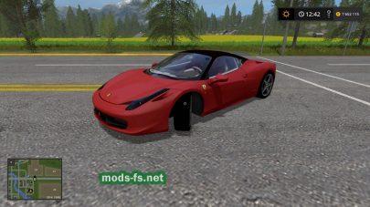 Скриншот мода «Ferrari 458»
