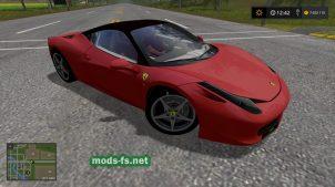 Ferrari 458 в игре Фермер Симулятор 2017