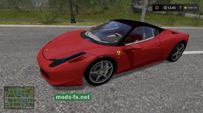 Мод Ferrari 458 для Farming Simulator 2017