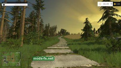 Скриншот леса в FS 2015