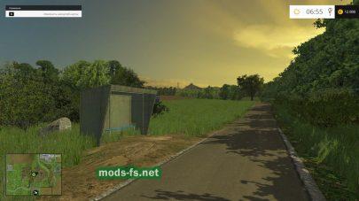 Автобусная остановка в игре Farming Simulator 2015