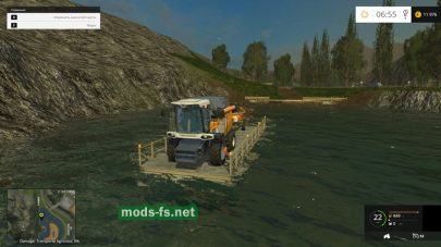 Переправа для техники в Farming Simulator 2015