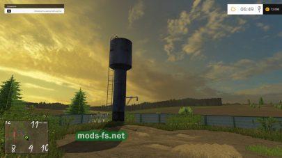Водонапорная башня в игре Farming Simulator 2015