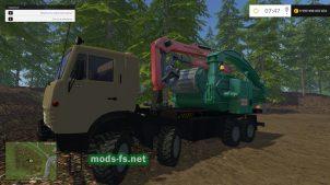 Мод KAMAZ-6350 с установкой для щепы