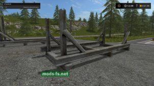 Мод держателя бревен в игре Farming Simulator 2017