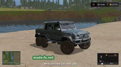 Скриншот мода Mercedes Benz G 65 AMG с игры Фермер Симулятор 2017