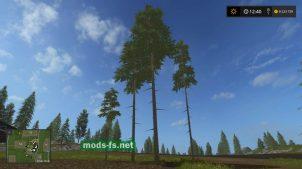 Высокие деревья (сосны) для Farming Simulator 2017