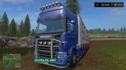 Мод фуры Scania для Farming Simulator 2017