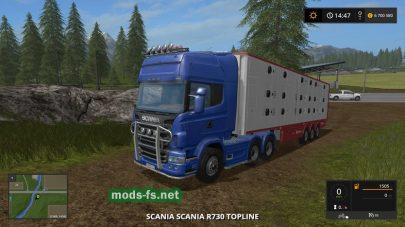 Тягач Scania R730 Topline для игры Фермер Симулятор 2017