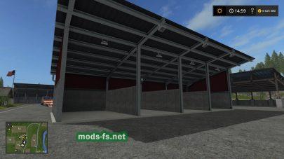 Мод гаража с освещением для Farming Simulator 2017