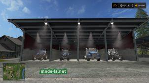 Гараж для техники в Farming Simulator 2017