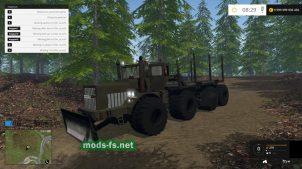 Мод трактора K-700 для перевозки бревен