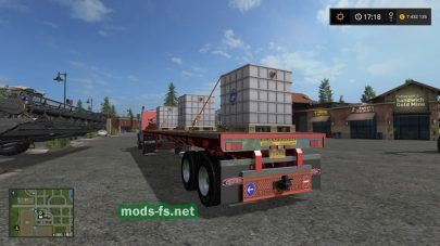 mods US Trailer With Tension Belts для FS 2017