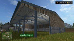 Мод гаража для техники в Farming Simulator 2017
