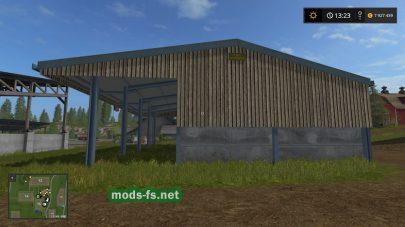 Навес для техники и зерна в игре FS 2017