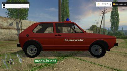 Мод полицейского Volkswagen Golf I GTI для игры Farming Simulator 2015