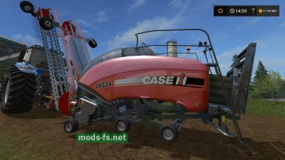 Caseih Lb334 Nadal R90 Baler + Raker для Farming Simulator 2017