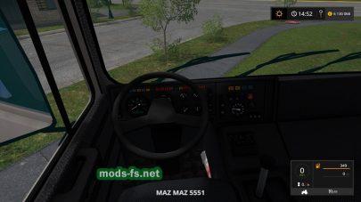 Грузовик МАЗ-5551 для Фермер Симулятор 2017