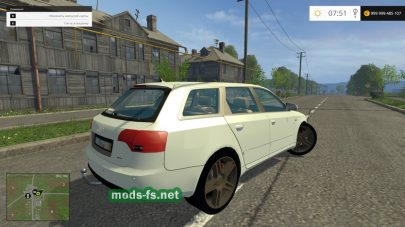 Легковое авто Audi A4 для игры Фермер Симулятор 2015