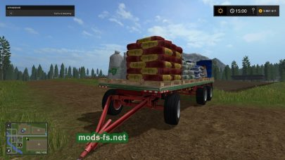 Прицеп с зерном, удобрениями и топливом для Фермер Симулятор 2017