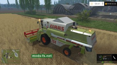 CLAAS MEGA 204 для игры Farming Simulator 2015