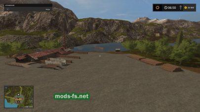 Лесная карта для Farming Simulator 2017