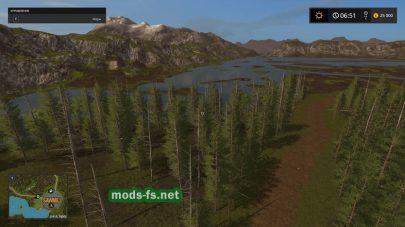 Карат с большим количеством лесов для игры Farming Simulator 2017